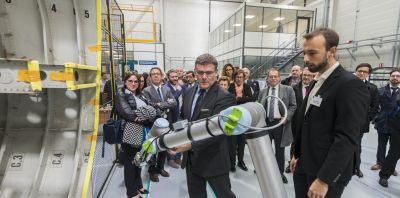 Christophe Sirugue Secrétaire d'Etat chargé de l'Industrie a lancé la 7ème semaine de l'Industrie depuis Technocampus Ocean